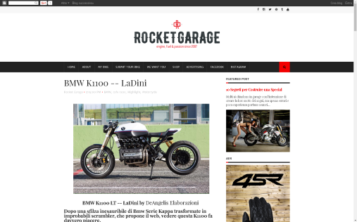 ROCKETGARAGE: BMW K1100 - LaDini-