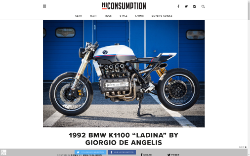 THE BIKE SHED - MADE IN LONDON: BMW K1100 - LaDini -