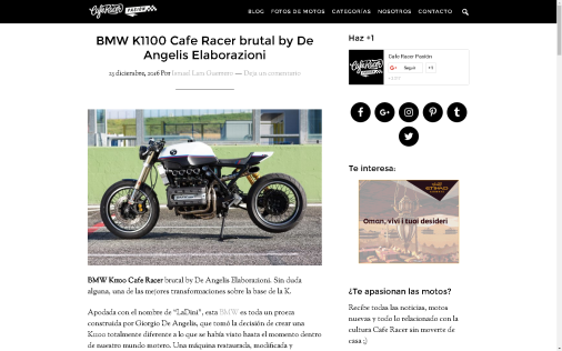 CAFE RACER PASION - MADE IN SPAIN: BMW K1100 - LaDini -