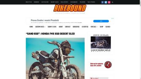 BIKEBOUND: HONDA FMX 650 - areia -